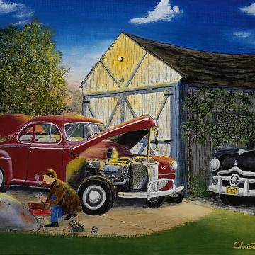 Christopher Lanser, car, mechanic